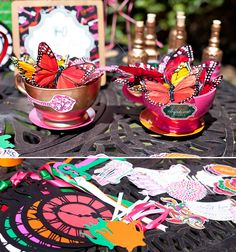 Butterfly teacups - butterflies remind me of my beloved Mom who is watching over all of us from Heaven.  Hi Mom!