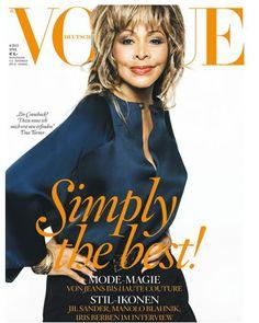 Eu amo a Tina Turner, põe Beyoncé, Madonna, Rihanna, todas no bolso e ainda samba na cara.     Ela, aos 73, é capa da Vogue Alemanha. Não sei se é photoshop, plástica, mas acho q ela podia deixar a idade chegar com mais naturalidade...