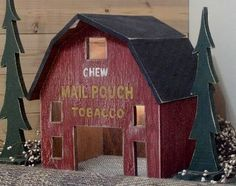 Lighted Mail Pouch Tobacco Barn..
