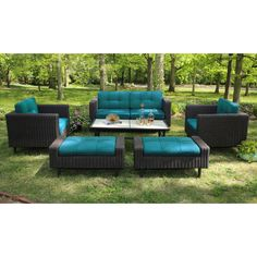 Found it at Wayfair - Wright 6 Piece Deep Seating Group with Cushion