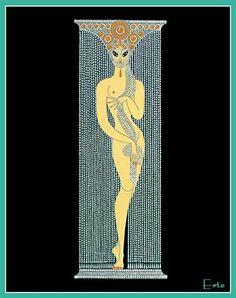 Number 1 -Erte - by style - Art Deco Art Deco Illustration, Moda Art Deco, Erte Art, Romain De Tirtoff, Art Deco Artists, Art Deco Stil, Inspiration Art, Art Deco Movement, 23 November