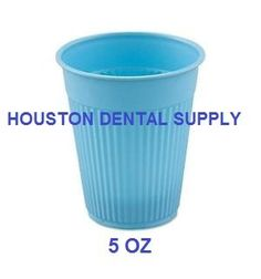 # ProfessionalDentalSupplies Patient Drinking Cups Size 5 Oz Plastic #Disposable Blue 100 pcs/box. Made with sturdy plastic material. Ideal for: #Dental (rinse mo...