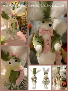 Tuxedo Top Hat and Easter Bonnet Bunny~ Shelley B Home and Holiday