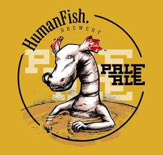 illustration for Humanfish. Brewery beer Pale ALE