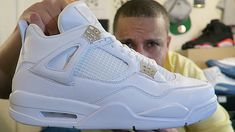 """2017 AIR JORDAN 4 """"PURE MONEY"""" FIRST LOOK!!! Feels 22 Sneakers... SHIRTS FROM: https://www.madestatusclothing.com YEEZY 350 BOOST BLK/RED GIVEAWAY: SHIRTS Fhttps://www.youtube.com/watch?v=5L4S5xelg2s DAMAGED ROYALITY 4's FROM NIKE:..."""