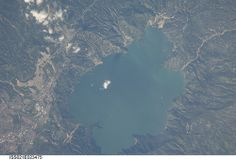 Crater Lake Volcano Eruption | Lake Ilopango, El Salvador (NASA, International Space Station Science ...