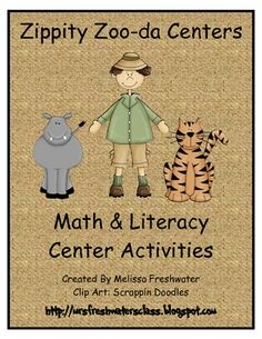 Zoo Themed: Literacy and Math Centers (www.mrsfreshwatersclass.blogspot.com)Math: Ten Frame Match-up Students will count the zoo animals in t...