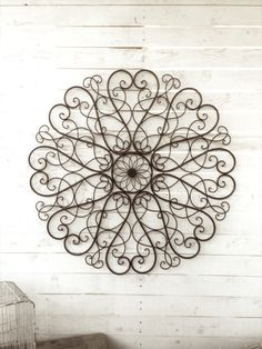 Large Metal Wall Art large metal wall art / large wrought iron wall decor / scrolled