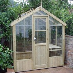 Swallow Kingfisher Wooden Greenhouse with free installation. Kingfisher x timber greenhouse includes toughened glass, autovents and locking door. Greenhouse Effect, Home Greenhouse, Small Greenhouse, Greenhouse Wedding, Greenhouse Ideas, Greenhouse Supplies, Victorian Greenhouses, Wooden Greenhouses, Great Photos