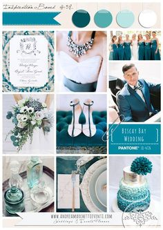 PANTONE Color Report Fall 2015 Biscay Bay Wedding