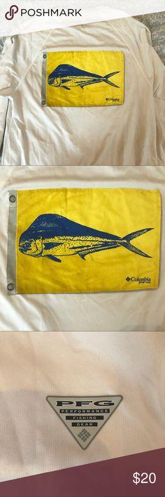 93717e903af7f Columbia PFG Fishing Long Sleeve Drifit Tee Shirt Size small long sleeved  tee shirt made by