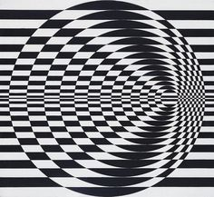 Do you ever wonder how Bridget Riley manages to paint her 'Op-art' works without falling over? Art Optical, Optical Illusions, Optical Illusion Art, Bridget Riley Art, Illusion Kunst, Psy Art, School Art Projects, Art School, Elements Of Art