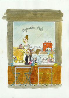 Illustration Parisienne, Paris Illustration, Art Et Illustration, Cute Sketches, Cute Drawings, My Little Paris, Jolie Photo, Planner, Life Is Beautiful