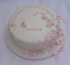 Yet another precious christening cake. Cupcakes, Cupcake Cakes, Baby Girl Christening Cake, Baptism Cakes For Girls, Dedication Cake, Image Birthday Cake, Confirmation Cakes, Communion Cakes, Cake Images