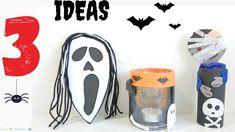 12 Ideas para Halloween / Dulcero, Adorno y Portavelas Reciclado Adornos Halloween, Manualidades Halloween, Candle Holders, Recycling, Water Bottle, Candles, Crafty, Ornaments, Ideas Para