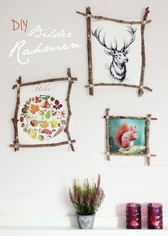 s& {DIY} picture frame made of branches . - s& {DIY} Picture frame made of branches More - Diy Crafts To Do, Frame Crafts, Marco Diy, Deco Nature, Craft Box, Decoration, Diy Art, Diy Gifts, Branches