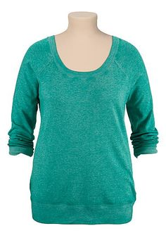 long sleeve burnwash plus size pullover (original price, $29) available at #Maurices