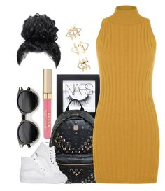 """""""Untitled #888"""" by cjasmyne ❤ liked on Polyvore featuring NARS Cosmetics, MCM, Vans, Stila, WearAll and Charlotte Russe"""