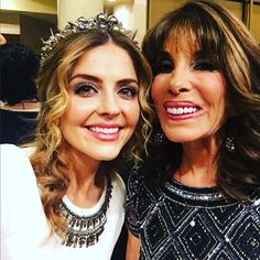 Jen Lilleyof General Hospital &Kate Linder of Y&Rcelebrate positive filmson the #redcarpet both in #JaredJamin #Jewelry! Thanks @WestHowiewood and @MovieGuide!