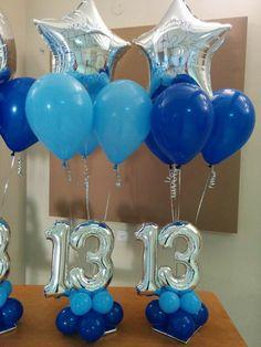 13 Balloon Gift, Balloon Garland, The Balloon, Balloon Decorations, Balloons, 13th Birthday Parties, Birthday Tags, Birthday Party For Teens, 80th Birthday