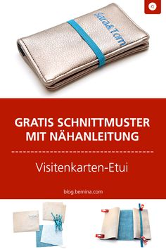 Kostenlose Nähanleitung für ein Visistenkarten-Etui #tutorial #etui #visitenkarten #nähen #freebook #freebie #kostenlos #nähanleitung #diy #bernina Wallet, Sewing, Bags, Pouches, Posts, Beautiful Bags, Stocking Stuffers, Tutorials, Handbags