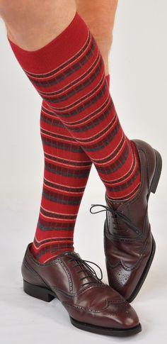 5357aa52a1 ExtraFine Merino Over-the-Calf Multi-Stripe Dress Socks