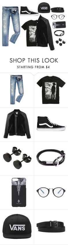 """""""Social anxiety"""" by theater-potter-dance-warriors ❤ liked on Polyvore featuring Calvin Klein, Hot Topic, MANGO MAN, Vans, Anchor & Crew, Marcelo Burlon, Cutler and Gross and Yves Saint Laurent"""