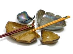 Unique sushi serving set.