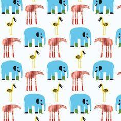 "Marimekko Karkulaiset 33 & # x 27 ""Elephants Wallpaper Roll Farbe: Blau / Weiß - 挂件 - Babyzimmer Tier Wallpaper, Graphic Wallpaper, Wallpaper Roll, Print Wallpaper, Wallpaper Wallpapers, Marimekko Wallpaper, Marimekko Fabric, Elephant Wallpaper, Animal Wallpaper"