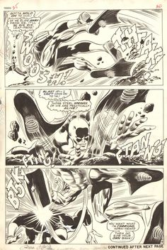 Another beauty from Gene Colan.  Daredevil #25 page 16