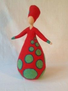 Vrouwen - Wolinhout Diy Tree Topper, Tree Toppers, Wet Felting, Needle Felting, Art Costume, Wool Art, Felt Applique, Doll Tutorial, Felt Dolls