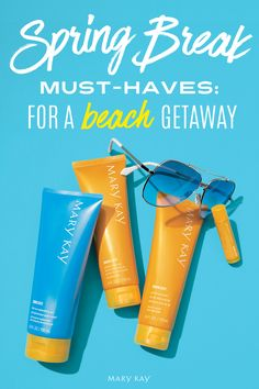 Escaping to the beach this Spring Break? Don't forget the SPF and Limited-Edition† Mary Kay® After-Sun Replenishing Gel for the sun-day fun-days that last a little longer than expected!