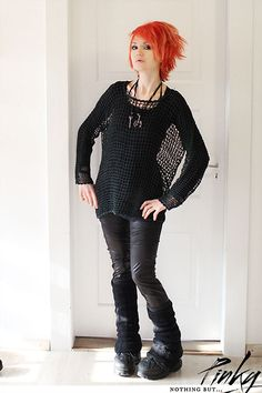 Secondhand Pullover, Alchemy Necklace, Buffalo Shoes, 7 Sins Pvc Leggings