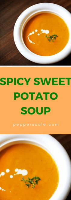 Warms you up in all the right ways…When you move from spiced sweet potato soup to spicy, you have a dish that'll warm you up no matter how cold it gets outside. Spicy Recipes, Mexican Food Recipes, Soup Recipes, Ethnic Recipes, Drink Recipes, Dinner Recipes, Spicy Sweet Potato Soup, Spicy Soup, Spicy Steak