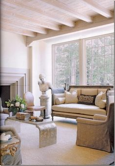 Eye For Design: Decorating With White Exposed Beam Ceilings