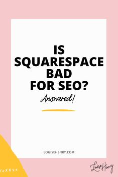 SEO tips for Squarespace websites. Have you heard that Squarespace website builder might be bad for organic SEO? In this video, I answer your biggest questions about Squarespace SEO. #squarespacetips #seotips