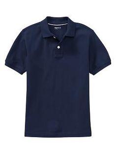 Uniform short-sleeve piqué polo | Gap $17