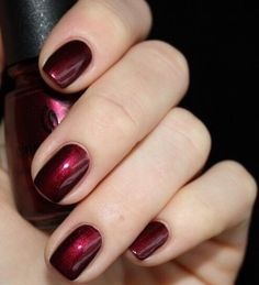 Garnet nails, always beautiful!  Share and like any of our posts this month (must do both) to be entered to win a free Deluxe pedicure and 2nd place a free gel manicure. Drawing 12/1/14 #manicure #pedicure #nails #asheville