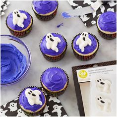 Gummy Ghost Decorations, 8 Count by Wilton. These scary ghosts will boo -st your treats. Add these to cupcakes, sugar cookies, molded chocolate candies and more. Gummy scary ghosts, perfect for individual treats Halloween Baking, Halloween Cakes, Halloween Ghosts, Halloween Treats, Ghost Decoration, Decorations, Global Sugar Art, Brownie Toppings, Spooky Treats