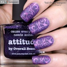 "Gefällt 1,032 Mal, 3 Kommentare - UberChic Beauty (@uberchicbeauty) auf Instagram: ""Beautiful purple mani - just how to start your weekend off right! By the amazing @belegwen  Repost:…"""