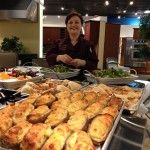 Chef Rachelle Boucher with all the amazing food at the West Palm Beach culinary event with Thermador