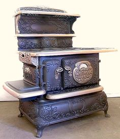 This one has to be so heavy! Wood fired cooking stove. [count your blessings!]