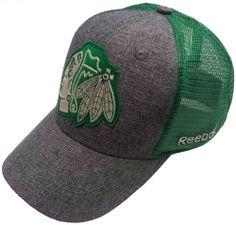 Chicago Blackhawks St. Patrick's Day Flex Fit Hat by Reebok | Sports World Chicago $24.95  #ChicagoBlackhawks