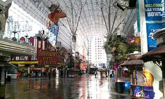 Here's a run down Freemont Street in downtown Las Vegas. Very different than most streets!