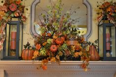 85 Best Pictures Stunning Fall Mantel Decor Ideas To Inspire You 1058 Halloween Mantel, Fall Halloween, Vintage Halloween, Halloween Ideas, Halloween Costumes, Fall Mantel Decorations, Thanksgiving Decorations, Mantel Ideas, Thanksgiving Tablescapes