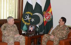 General John F. Campbell, Commander Resolute Support Mission and United States Forces - Afghanistan called on Chief of Army Staff (COAS) General Raheel Sharif, today at General Headquarters. During the meeting, matters of mutual interest and regional security situation with particular reference to the reconciliation process in Afghanistan came under discussion.