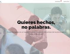 "Check out new work on my @Behance portfolio: ""Actúa Zaragoza - Web Design and development."" http://be.net/gallery/40517183/Actua-Zaragoza-Web-Design-and-development"