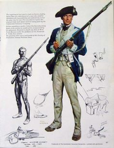 AWI Americans: The Continental Soldier - 1781, by Tom Lovell.