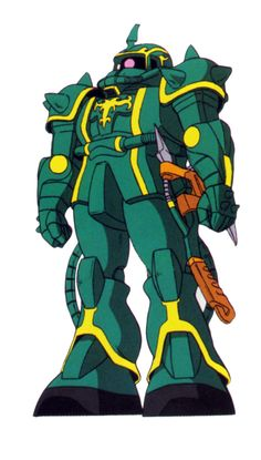 The Zaku II Dozle Zabi Custom is one of many variants of the standard MS-06 Zaku II created by the Principality of Zeon during the One Year War. It was personally piloted by Zeon's Space Attack Force Commander Dozle Zabi.