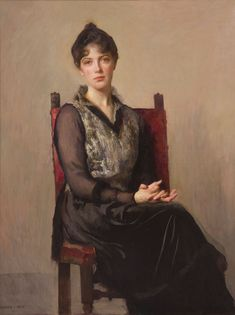 """My Daughter Josephine,"" Edmund Charles Tarbell, 1915, oil on canvas, 48 ½ x 36 ½"", Vose Galleries."